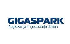Gigaspark - registracija in gostovanje domen